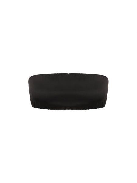 Прямой шелковый черный топ Tom Ford