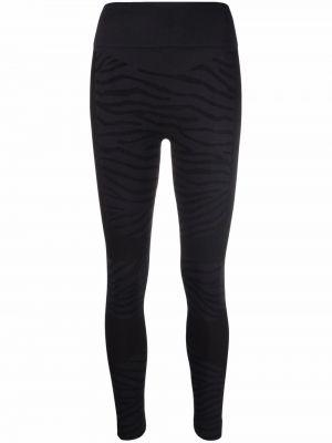 Леггинсы с принтом - черные Adidas By Stella Mccartney