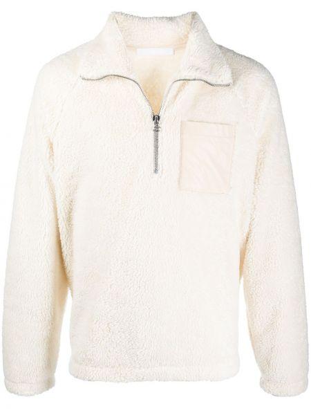 Biały pulower z długimi rękawami bawełniany Helmut Lang