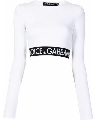 Топ с длинными рукавами - белый Dolce & Gabbana
