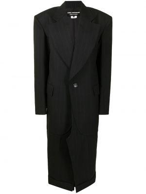 Черное пальто на пуговицах Junya Watanabe
