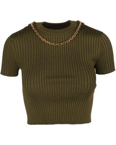 Koszula w paski w paski - zielona Givenchy