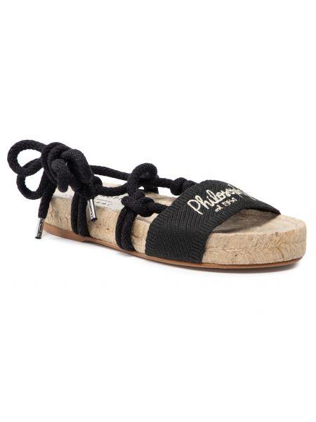 Czarne sandały casual Manebi