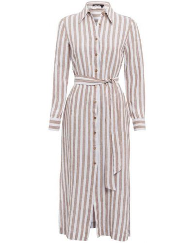 Beżowa sukienka w paski Marc Aurel