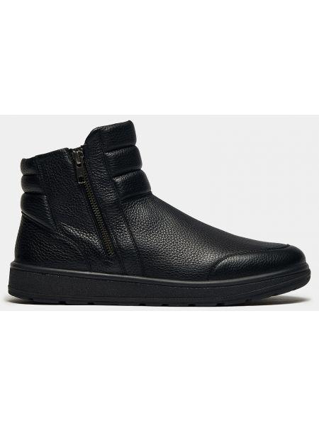 Спортивные кожаные черные зимние ботинки Ralf Ringer