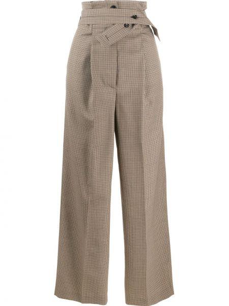 Свободные брюки в клетку с поясом Paul Smith