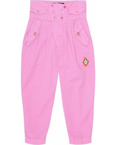 Bawełna różowy spodnie włosy wielbłąda The Animals Observatory