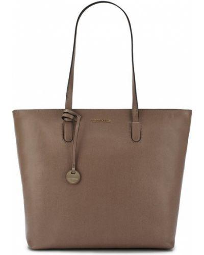 Кожаный сумка с отделениями с логотипом Coccinelle