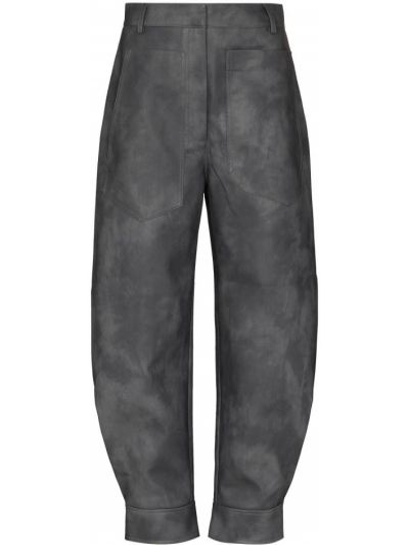 Bawełna bawełna spodni przycięte spodnie Tibi