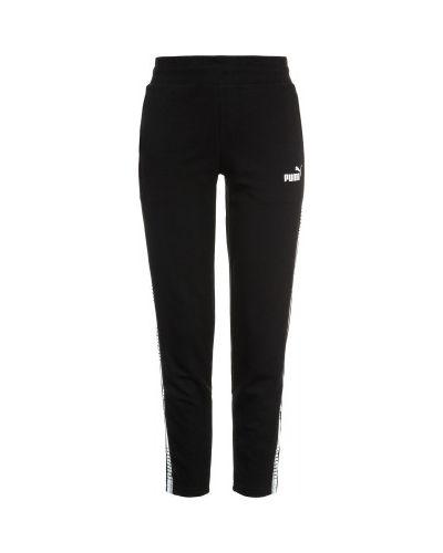 Черные укороченные брюки Puma