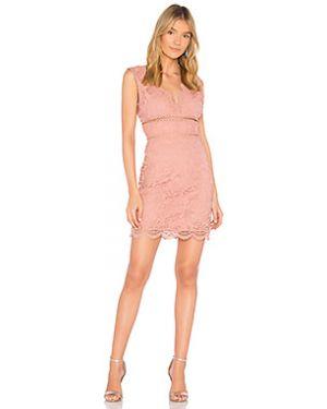 Розовое платье мини на молнии с подкладкой J.o.a.