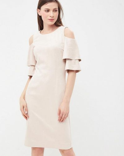 Платье весеннее бежевое Vittoria Vicci