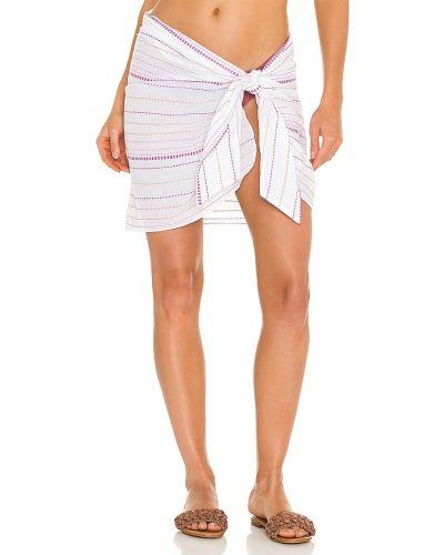 Biały pareo bawełniany z haftem Vix Swimwear