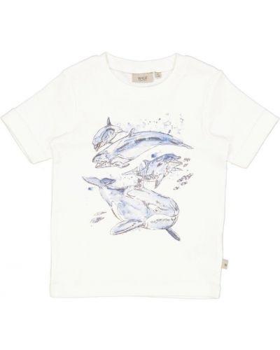Biała koszulka z printem Wheat