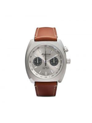 Кожаные белые часы Alpina