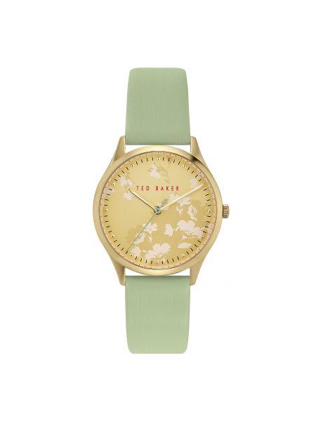 Zielony złoty zegarek Ted Baker