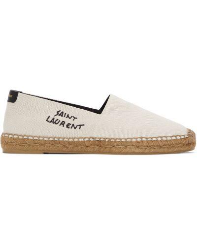 Espadryle skorzane - białe Saint Laurent