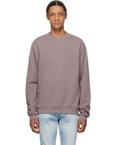 Frotte fioletowy bluza z długimi rękawami z mankietami John Elliott