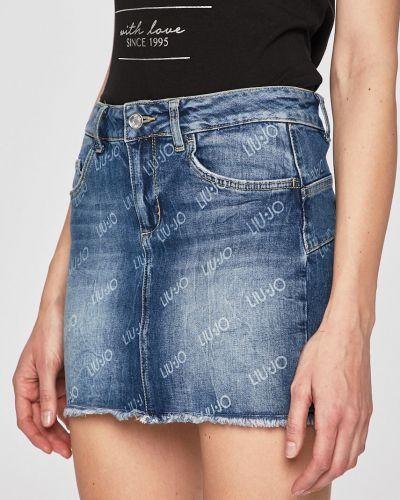 Юбка мини джинсовая на пуговицах Liu Jo