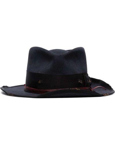 Фетровая синяя шляпа-федора Nick Fouquet
