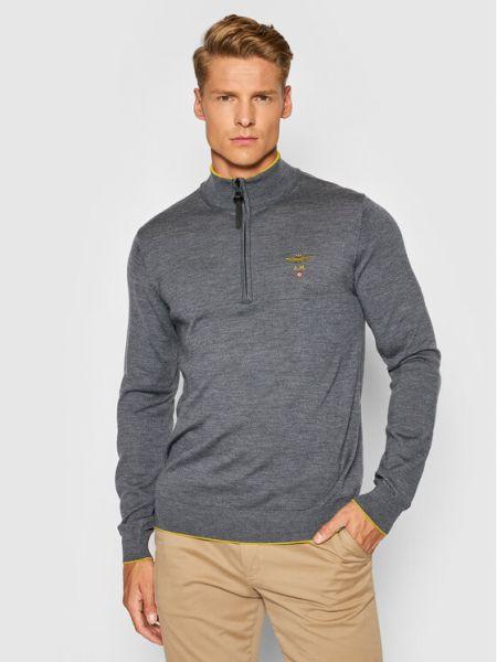 Szary sweter Aeronautica Militare