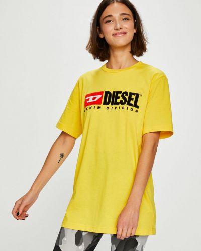 Футболка прямая с аппликациями Diesel