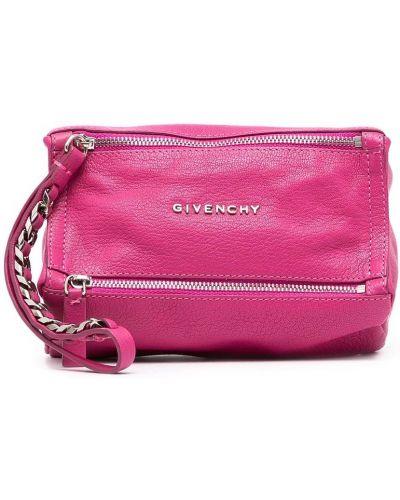 Różowa kopertówka skórzana Givenchy Pre-owned