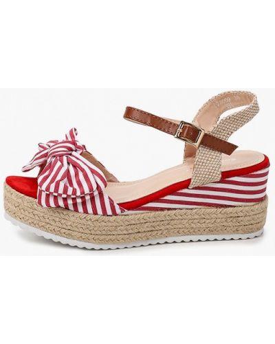 Текстильные красные босоножки Sweet Shoes