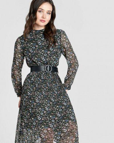 Прямое черное платье O'stin