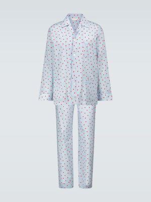 Синяя пижамная хлопковая пижама Derek Rose