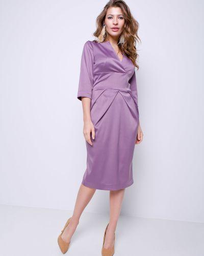 Вечернее платье миди - золотое Grandua
