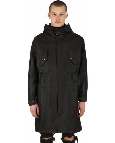 Płaszcz z kapturem kurtka grochowa wełniany Raglan United