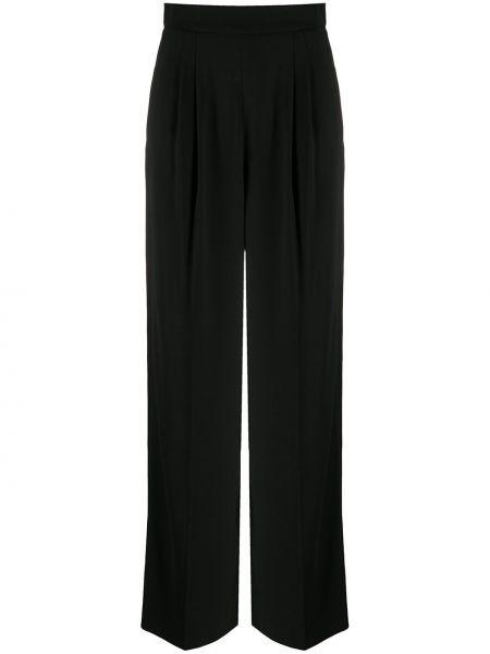 Черные свободные брюки с нашивками с карманами свободного кроя Paule Ka