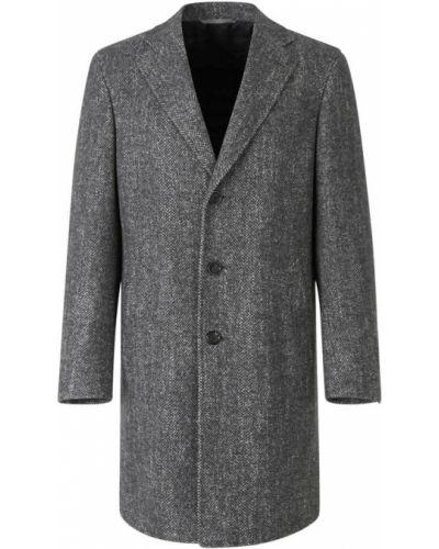 Szary płaszcz wełniany Canali