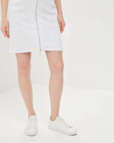 Джинсовая юбка - белая мамуля красотуля ..в ожидании чуда