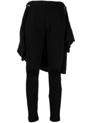 Хлопковые черные спортивные брюки с поясом Undercover