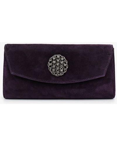 Клатч замшевый фиолетовый Vitacci