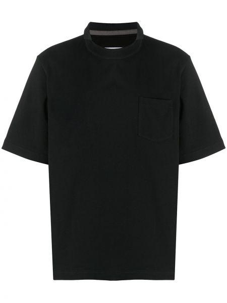 Koszula krótkie z krótkim rękawem prosto z kieszeniami Sacai
