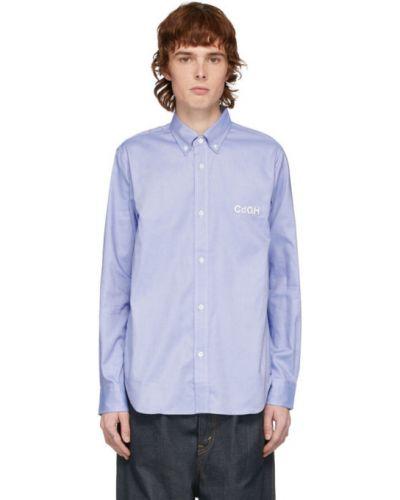 Bawełna bawełna z rękawami koszula oxford z mankietami Comme Des Garcons Homme