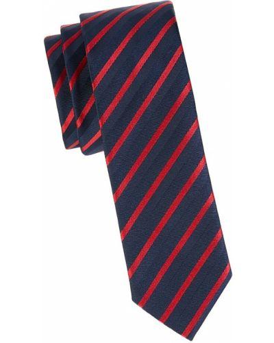 Krawat w paski z jedwabiu Boss Hugo Boss