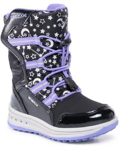 Czarne śniegowce Geox