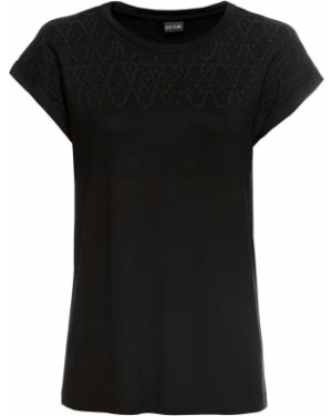 Блузка с коротким рукавом с вышивкой классическая Bonprix