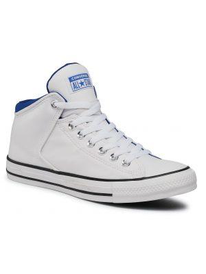 Niebieski wysoki trampki Converse