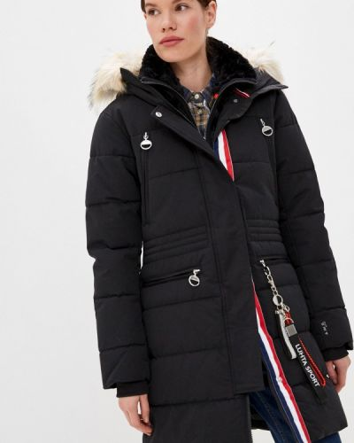 Черная утепленная куртка Luhta
