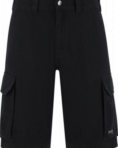 Свободные хлопковые черные шорты карго Protest