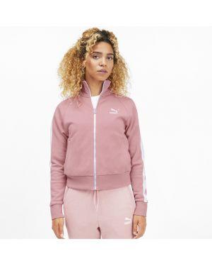 Розовая спортивная куртка на молнии со вставками с рукавом реглан Puma