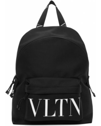 Czarny plecak na laptopa skórzany Valentino