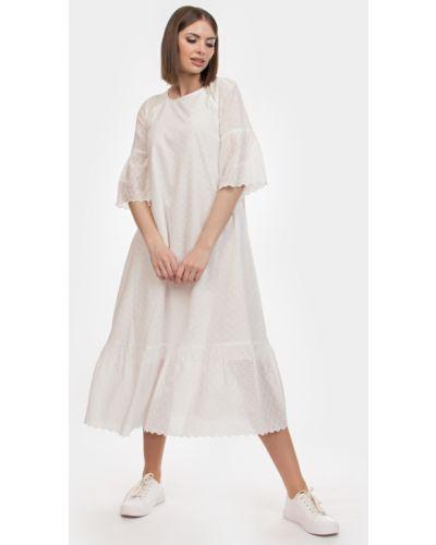 Кружевное батистовое платье бохо с вырезом Filigrana