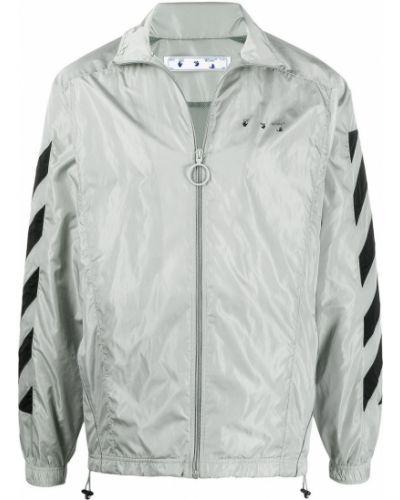 Biały z rękawami długa kurtka z paskami Off-white