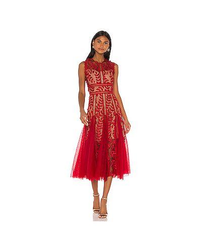 Платье миди на молнии красный Bronx And Banco